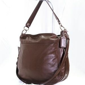 Coach Brown Leather Zoe Shoulder Bag